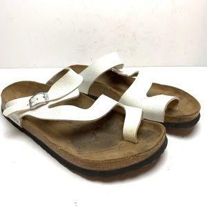 BIRKI'S BIRKENSTOCK LENNOX White Sandals sz 39 /8